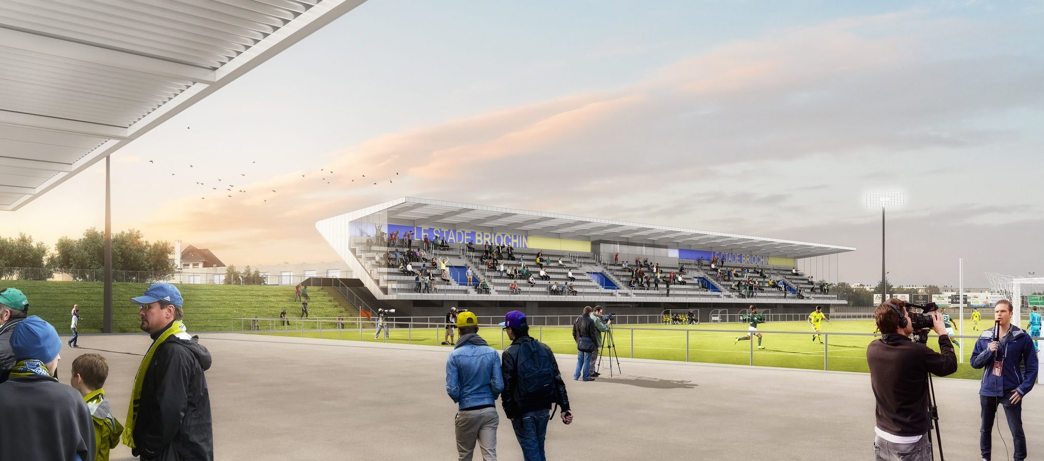 Tribune d'honneur Stade Fred Aubert - Saint-Brieuc